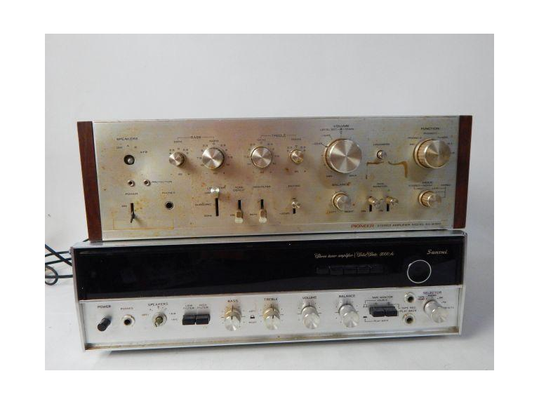 Vintage Sansui and Pioneer Stereo Units