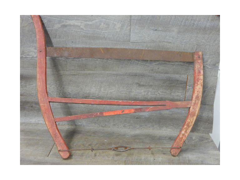 Antique Wood Framed Bow Saw