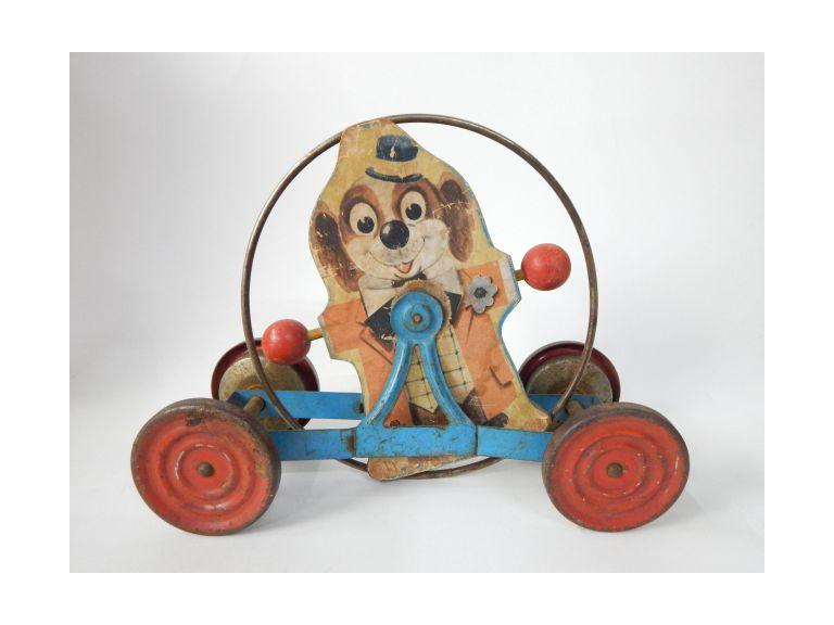 Vintage Dog Pull Bell Ring Toy