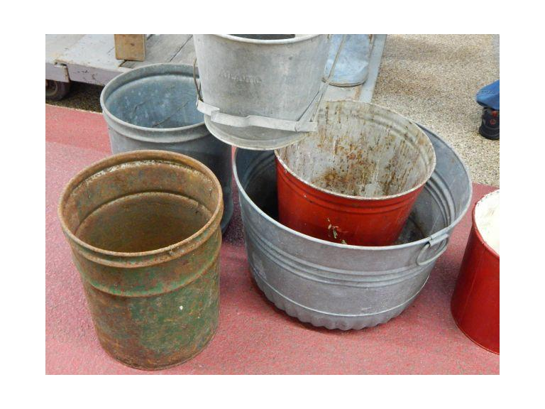 Collection of vintage Buckets