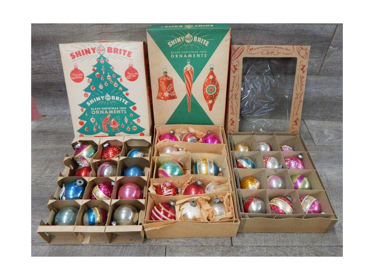 Collection of Vintage Glass Ornaments