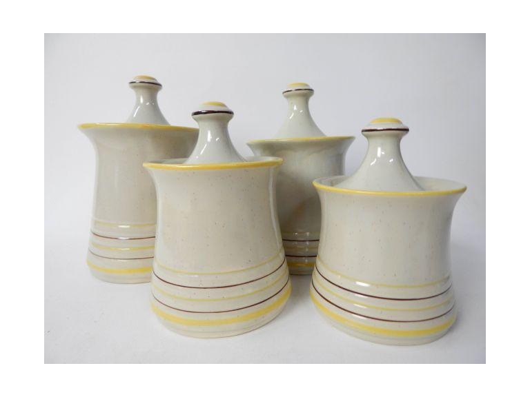 Mid-Century Pottery Canister Set