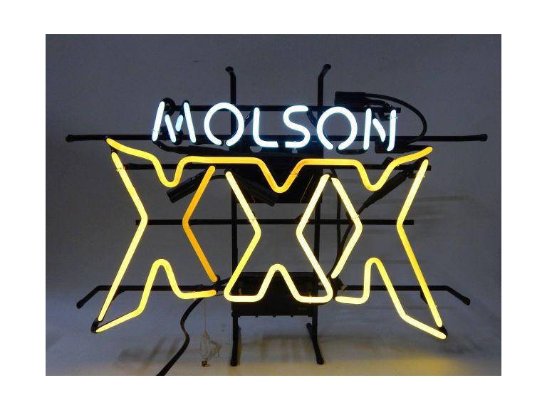 Molson XXX Neon Beer Sign