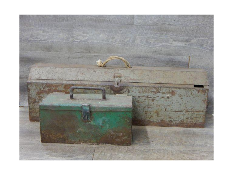 Pair of Metal Toolboxes
