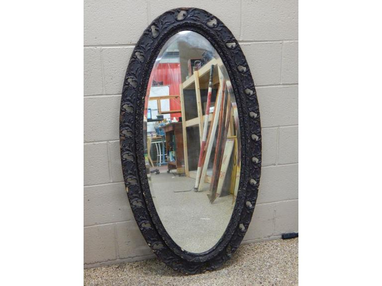 Large Ornate Wood Framed Mirror