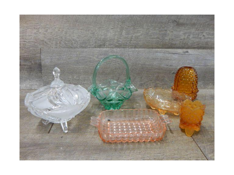 Collection of Colorful Glass with Fenton