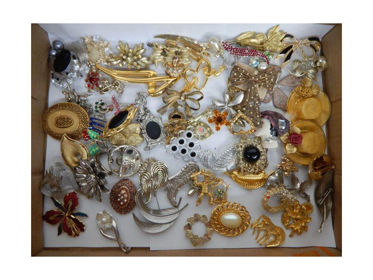 Collection of Jewelry Brooch Pins