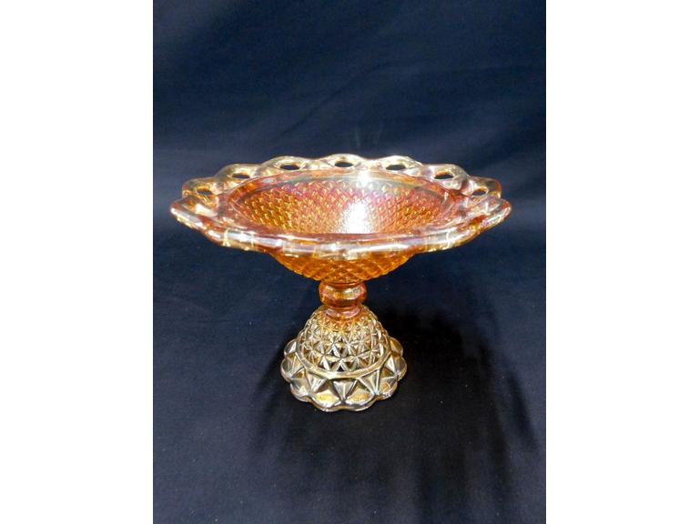 Imperial Carnival Glass Compote