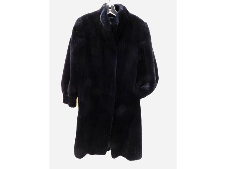 Vintage Faux Fur Knee Length Coat