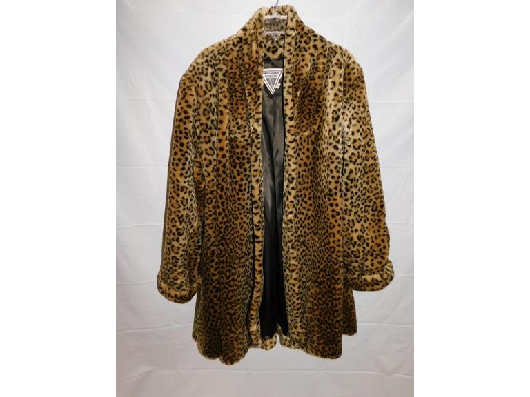 Vintage Faux Fur Swing Coat