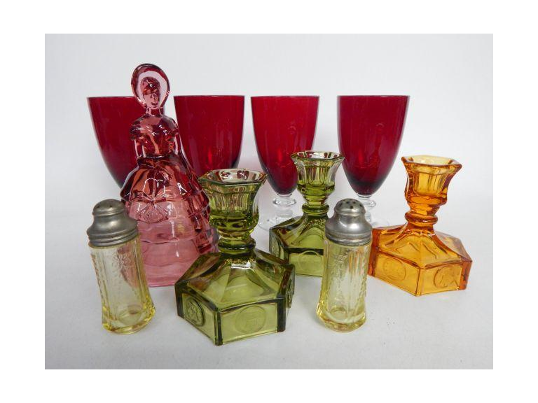 Collection of Colorful Glass