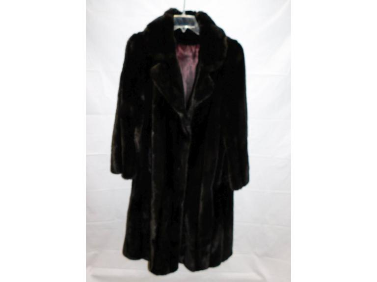 Vintage Faux Fur Full Length Coat