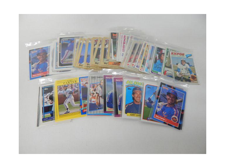 Collection of 67 Gary Carter Baseball Cards