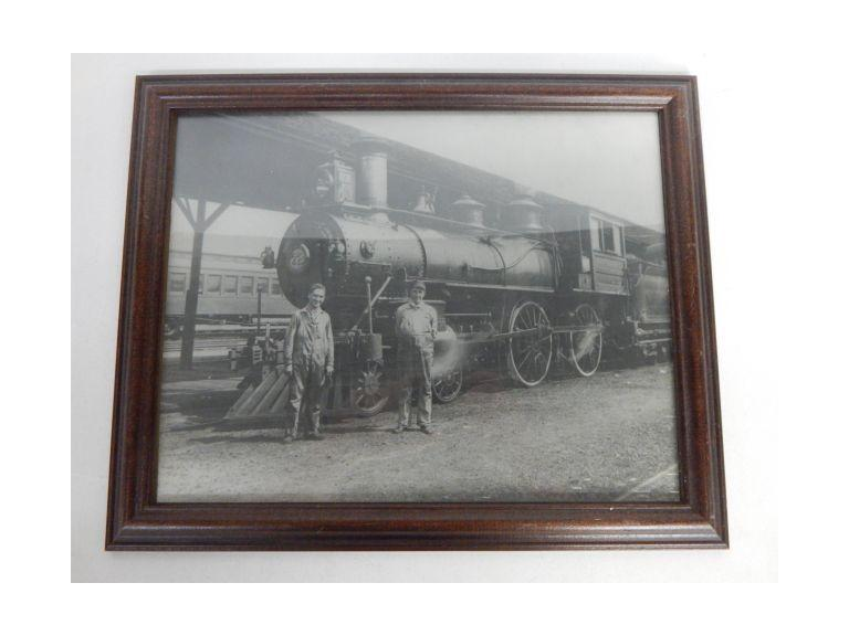 Old Framed Train Image