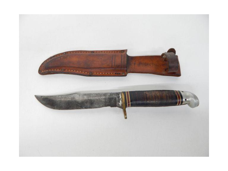Western Fixed Blade Knife and Sheath