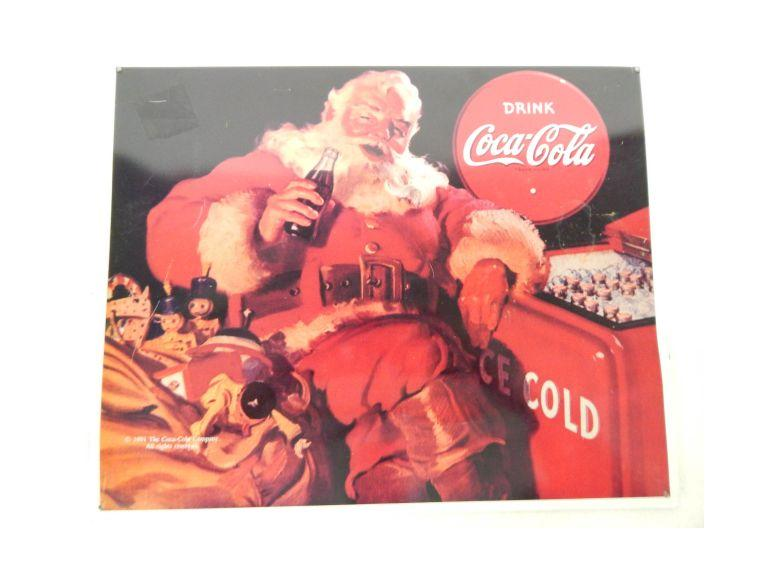 Coca Cola Santa Tin Metal Sign