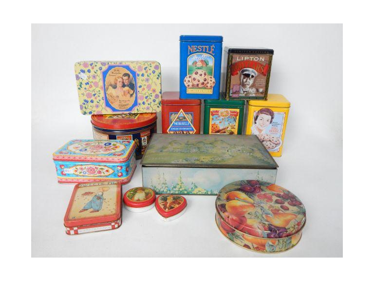 Collection of Decorative Tins