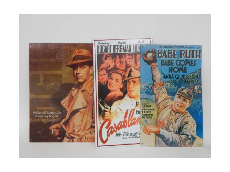 Movie Advertising Tin Metal Signs