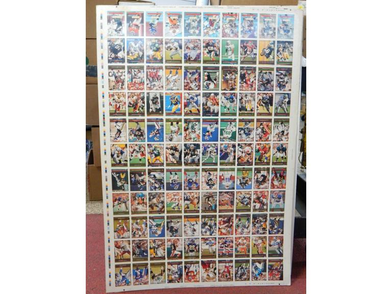 5 Sheets of Uncut Football Cards