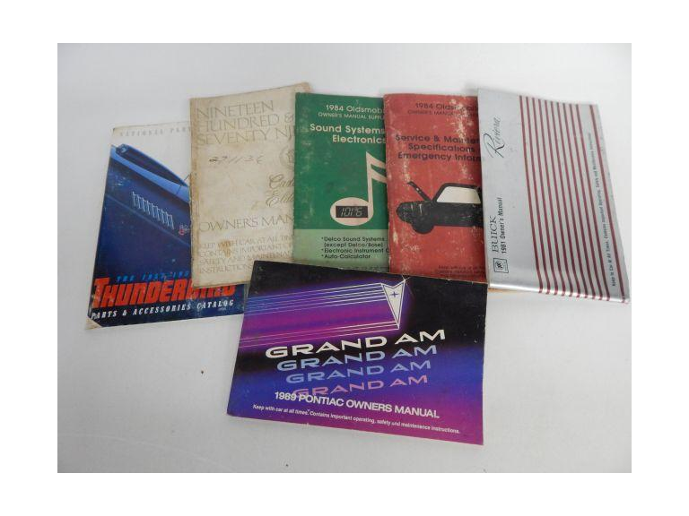Collection of Old Automobile Booklets