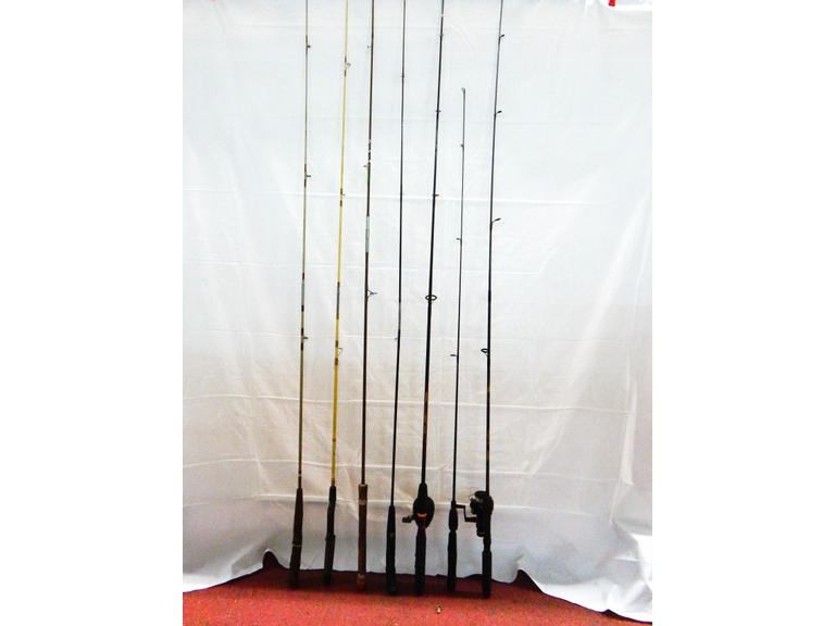 Collection of Fishing Rods and Reels