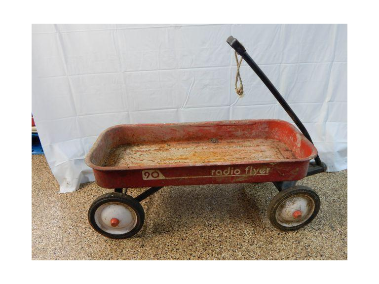 Old Radio Flyer Toy Wagon