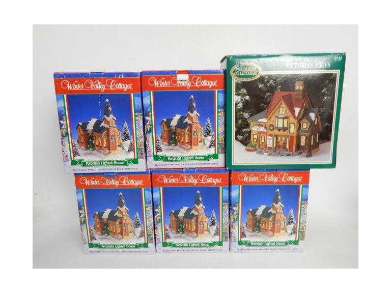 Collection of Ceramic Christmas Houses