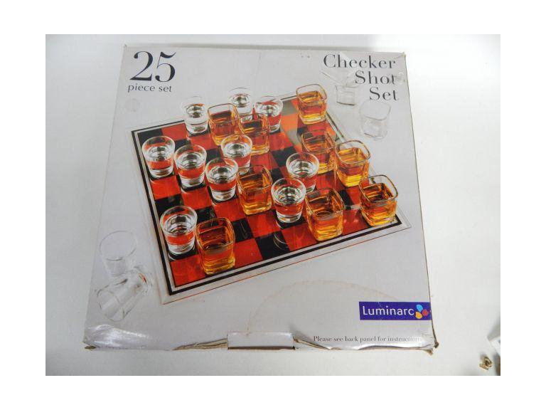 Glass Shot glass Checker Set
