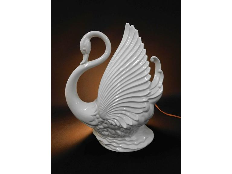 California Pottery Swan TV Lamp