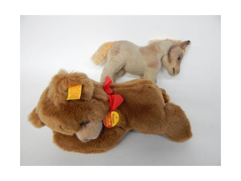German Steiff Bear and Horse