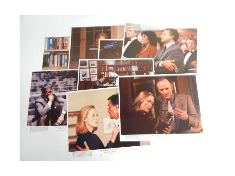 Complete Set of Still of  the Night Movie Lobby Cards