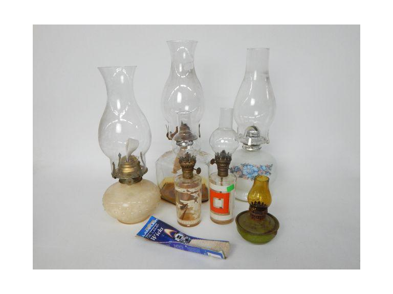 Collection of Hurricane Oil Lamps