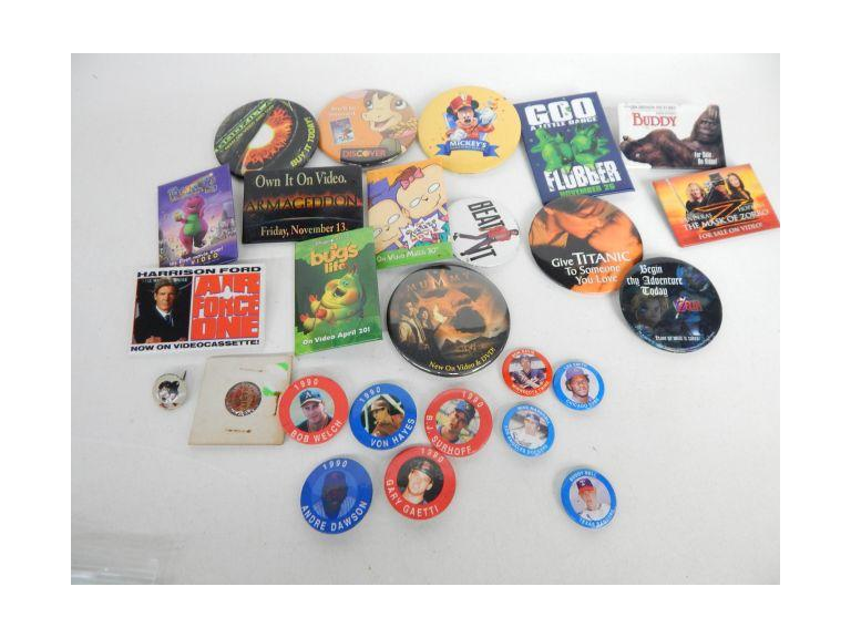 Collection of Pin Back Buttons