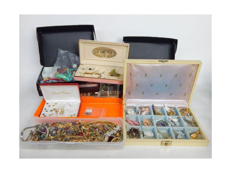Boxes and Cases Full of Jewelry