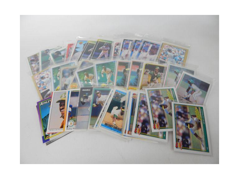 Collection of 62 Rickey Henderson Baseball Cards