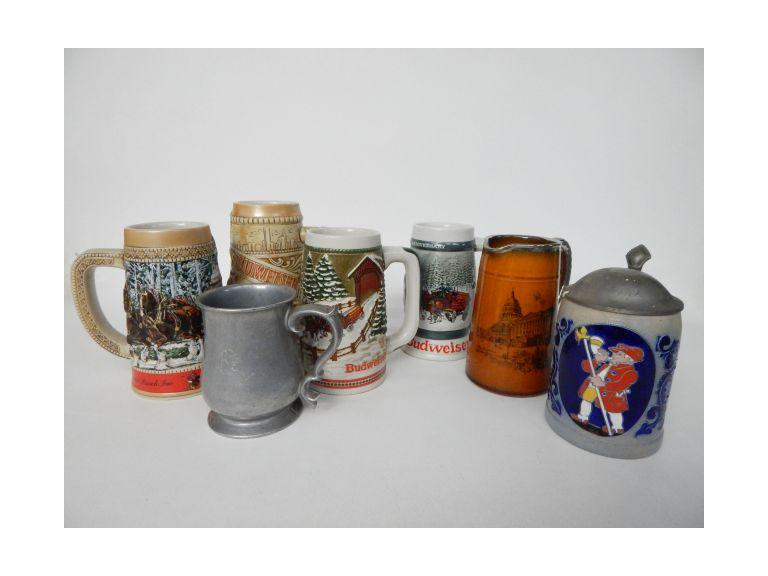 Budweiser Beer Tankards and More