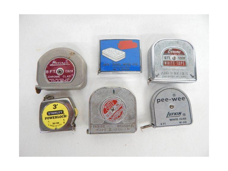 Collection of Old Pocket Size Tape Measures