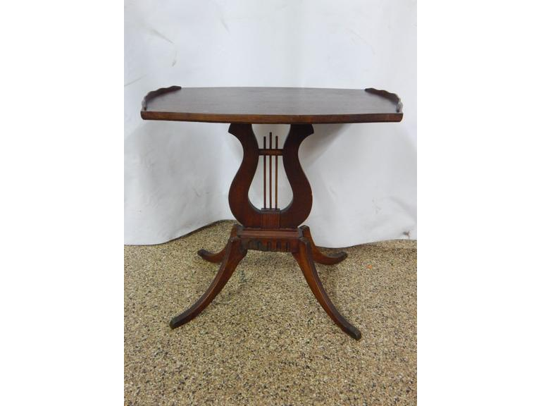 Antique Walnut Wood Side Table