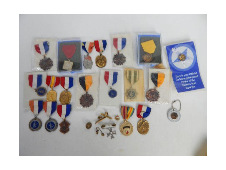 Collection of vintage Pins and Medals
