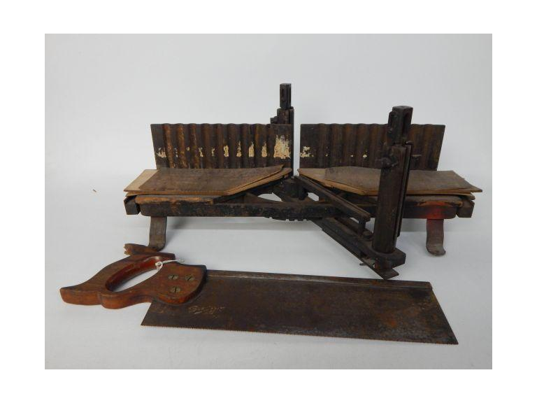 Vintage Miter Box and Saw