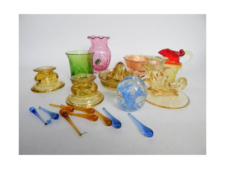 Art Glass Collection with Fenton & Rainbow Glass