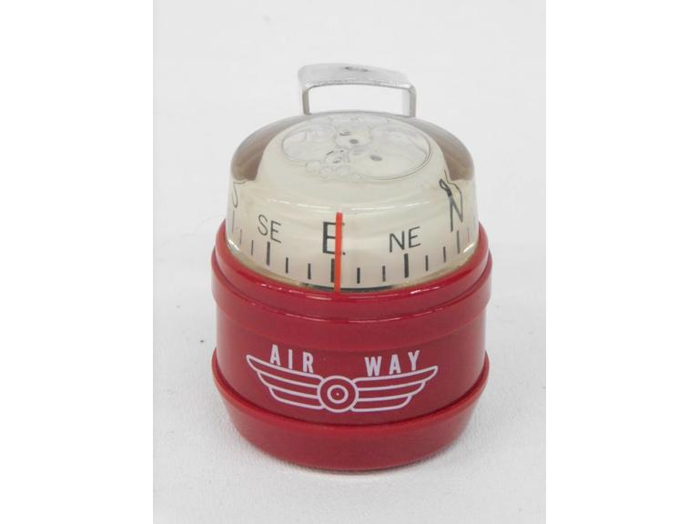 Mid Century Air Way Auto Dashboard Bubble Compass