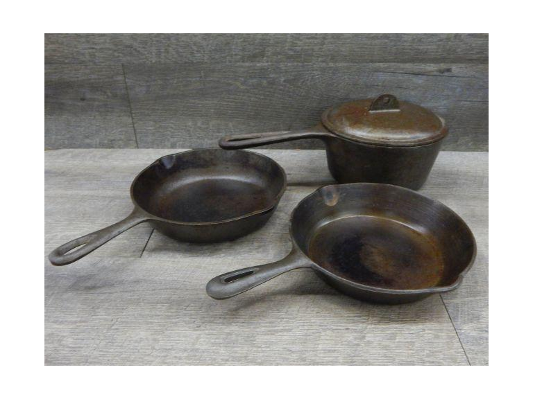 Cast Iron Sauce Pan and Skillets