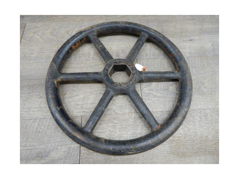 Large Industrial Cast Iron Valve Handle