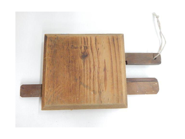Old Hand Crafted Wooden Puzzle Lock