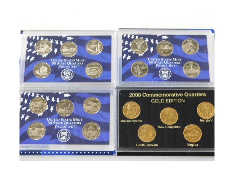 Collection of Proof Sets and Commemorative Quarters