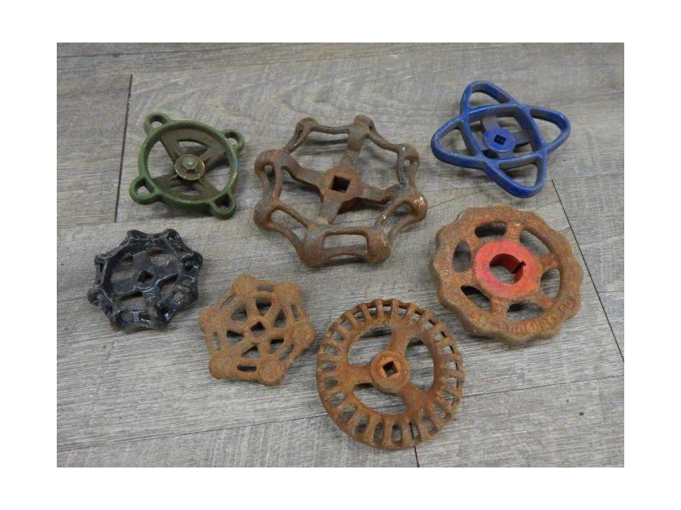 Collection of Old Water Valve Handles