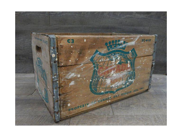 Old Canada Dry Wooden Shipping Crate