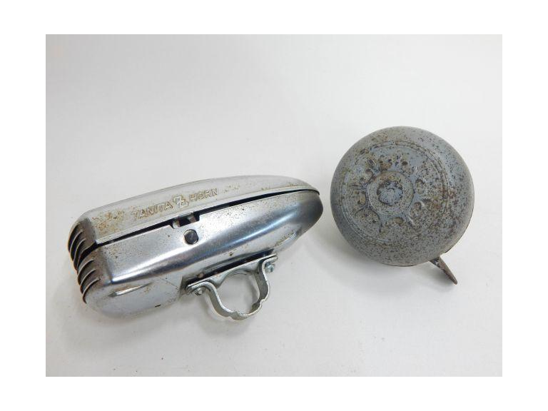 Vintage Bicycle Bell and Battery Operated Horn