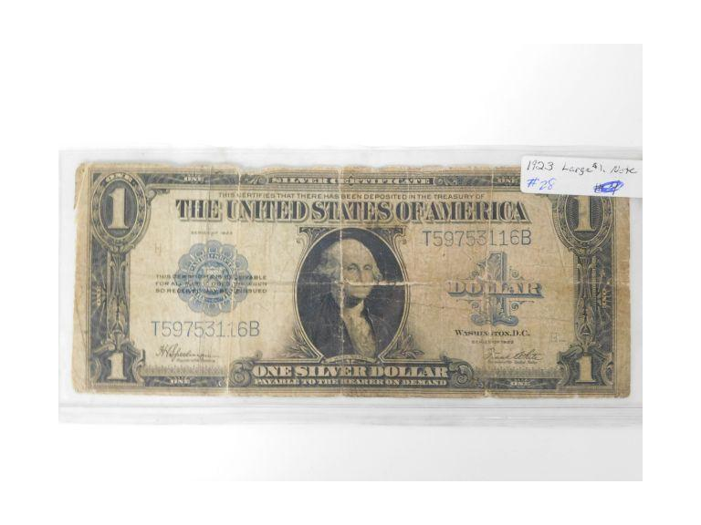 1923 $1 Large Note/Silver Certificate